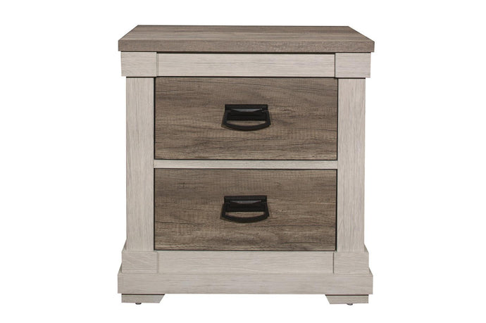 Homelegance Arcadia White And Brown Wood Finish Nightstand