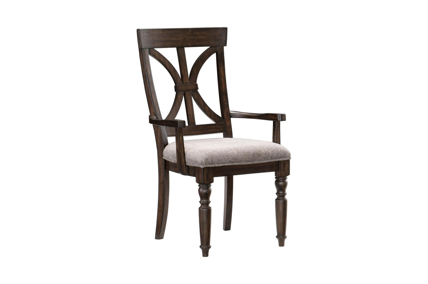 Homelegance Cardano Brown Wood Finish 2 Piece Dining Arm Chair