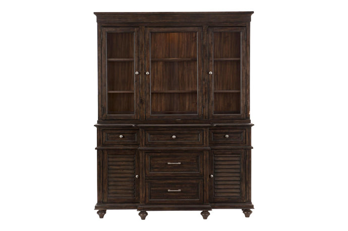 Homelegance Cardano Brown Wood Finish Buffet And Hutch