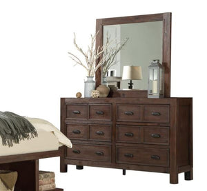 Homelegance Wrangell Cherry Wood Finish Dresser With Mirror