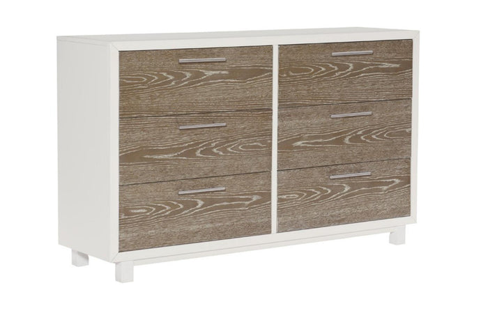 Homelegance Renly White And Oak Wood Finish Dresser