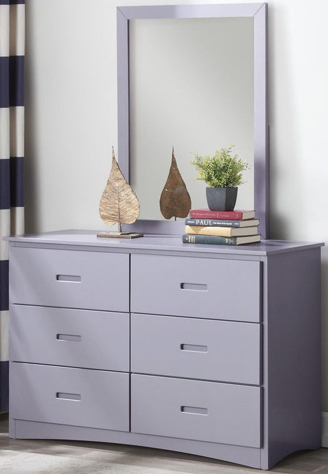 Homelegance Orion Gray Wood Finish Dresser With Mirror