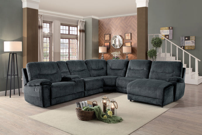 Homelegance Columbus Dark Brown Polyester Finish Sectionals Sofa