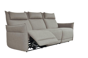 Homelegance Linette Taupe Polyester Finish Power Reclining Sofa