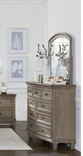 Homelegance Vermillion Natural Wood Finish Dresser With Mirror