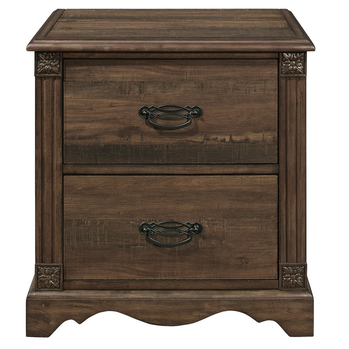 Homelegance Beaver Creek Brown Wood Finish Nightstand