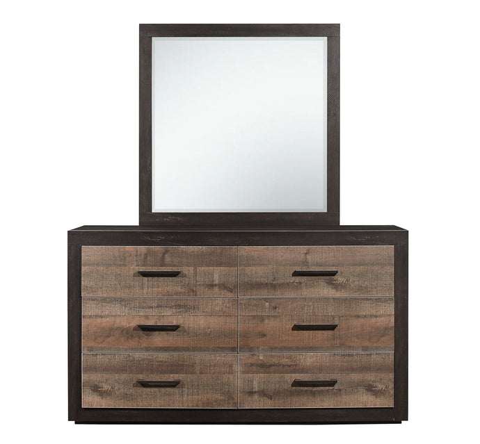 Homelegance Miter Natural Wood Finish Dresser With Mirror