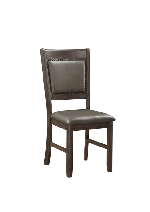 Homelegance Brim Cherry Wood Finish 2 Piece Dining Chair