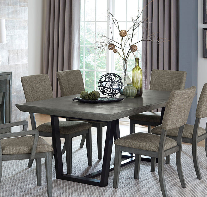 Homelegance Avenhorn Gray Wood And Metal Finish Dining Table