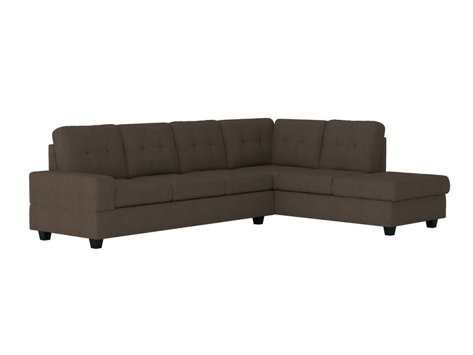 Homelegance Maston Chocolate Polyester Finish Sectional Sofa