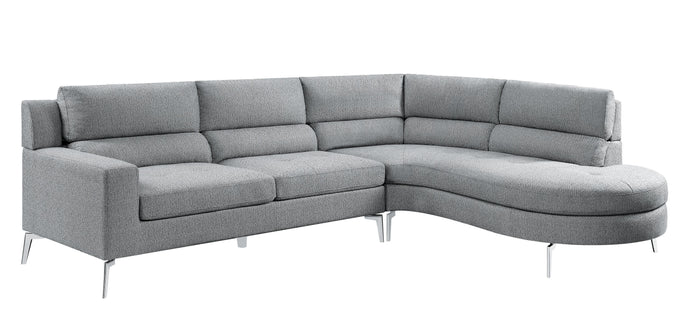 Homelegance Bonita Gray Polyester Finish Sectional Sofa