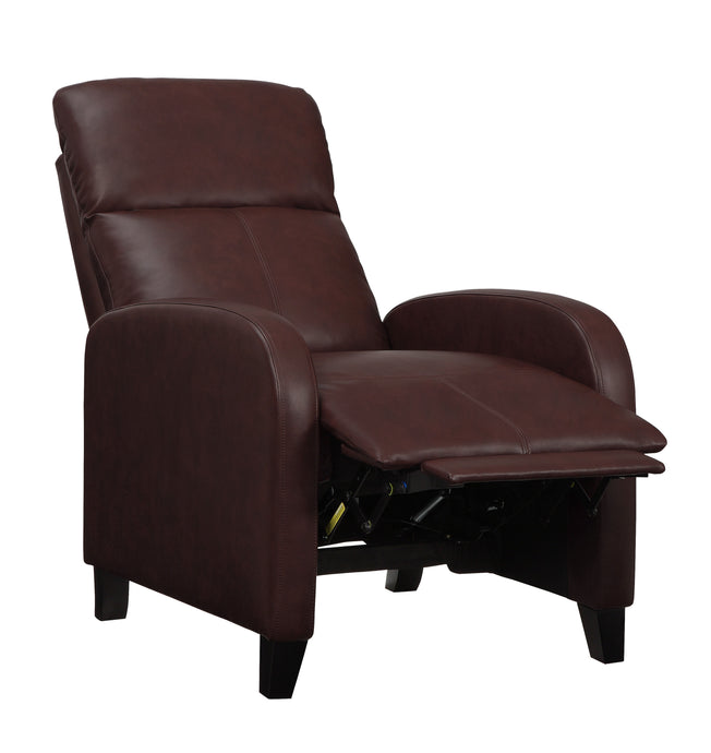 Homelegance Antrim Brown PU Leather Finish Recliner Chair