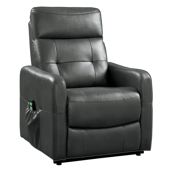 Homelegance Proctor Gray Leather Finish Power Lift Recliner Chair