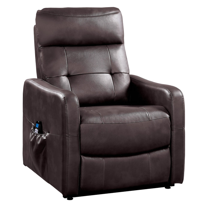 Homelegance Proctor Brown Leather Finish Power Lift Recliner Chair