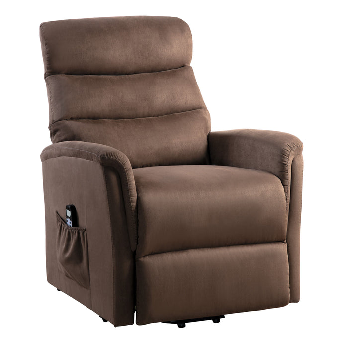 Homelegance Miralina Brown Polyester Finish Power Lift Recliner Chair
