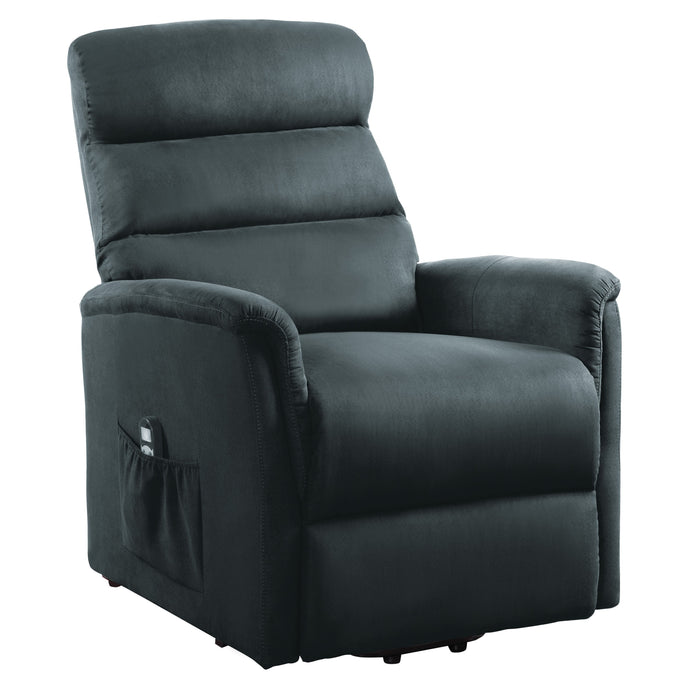 Homelegance Miralina Gray Polyester Finish Power Lift Recliner Chair