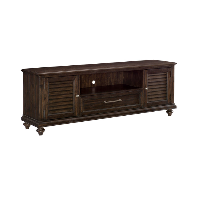 Homelegance Cardano Dark Brown Wood Finish TV Stand