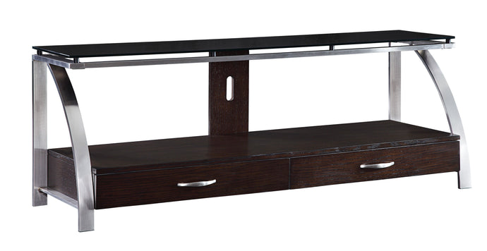 Homelegance Tioga Espresso Wood And Metal Finish TV Stand