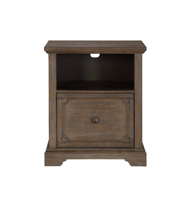 Homelegance Toulon Brown Wood Finish File Cabinet