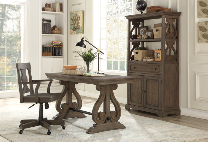 Homelegance Toulon Brown Wood Finish 3 Piece Writing Desk Set