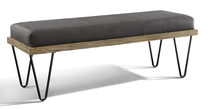 Homelegance Metallo Black Metal And Wood Finish Bench
