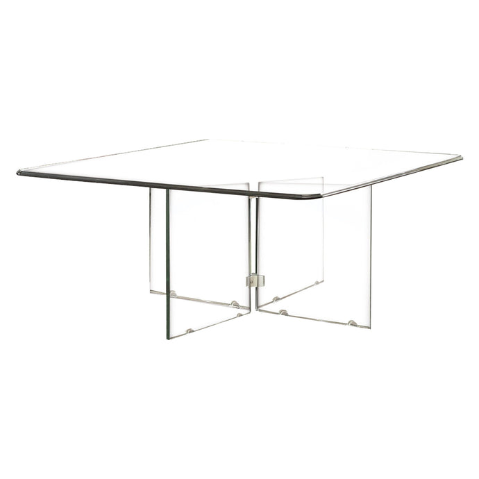 Homelegance Alouette Clear Glass Finish Coffee Table