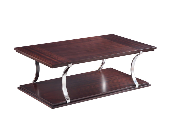 Homelegance Bevan Cherry Wood And Metal Finish Coffee Table