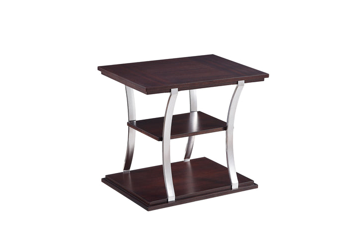 Homelegance Bevan Cherry Wood And Metal Finish End Table