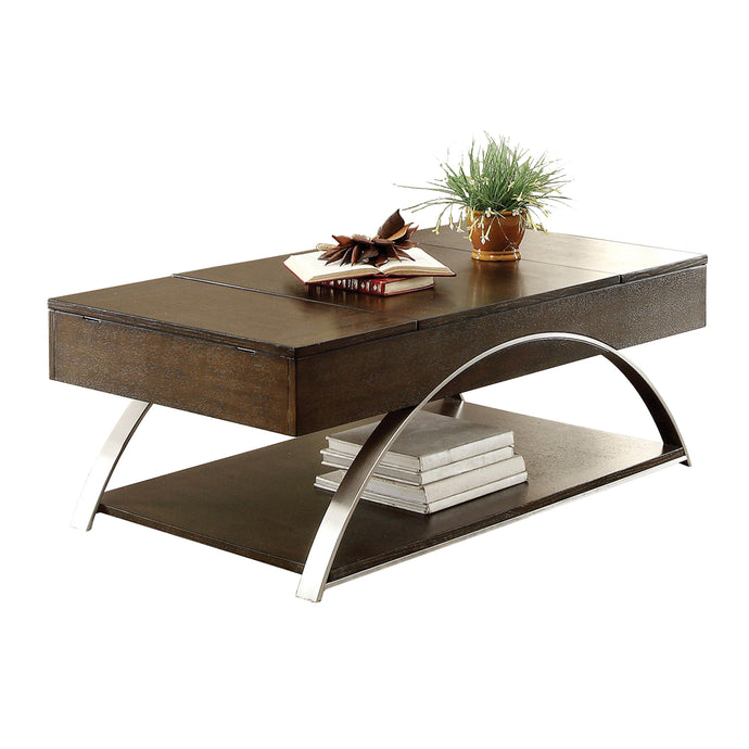 Homelegance Tioga Espresso Wood And Metal Finish Coffee Table