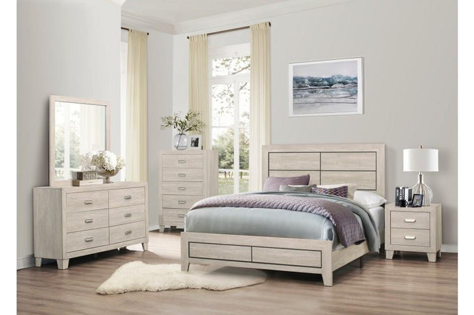 Homelegance Quinby Natural Wood Finish 4 Piece Queen Bedroom Set