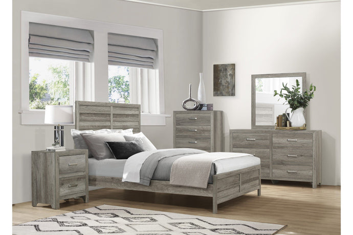 Homelegance Mandan Gray Wood Finish 4 Piece Queen Bedroom Set