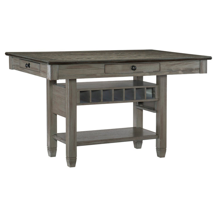 Homelegance Granby Gray Wood Finish Counter Height Dining Table