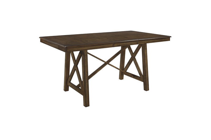 Homelegance Levittown Brown Wood Finish Counter Height Dining Table