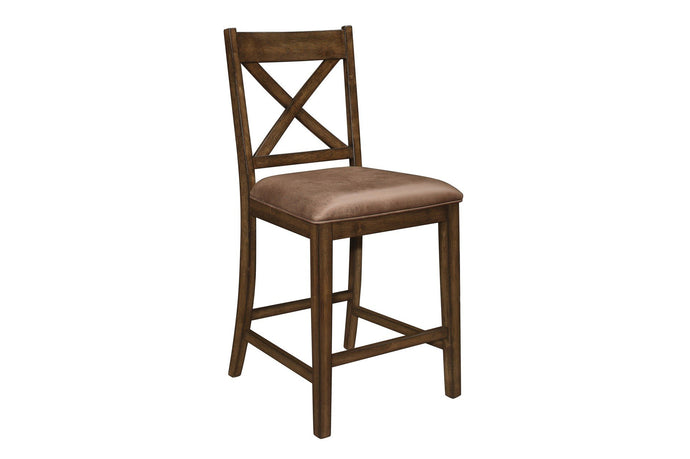 Homelegance Levittown Brown Wood Finish 2 Piece Counter Height Dining Chair