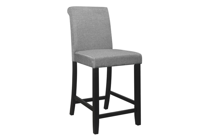 Homelegance Adina Gray Polyester Finish 2 Piece Counter Height Dining Chair
