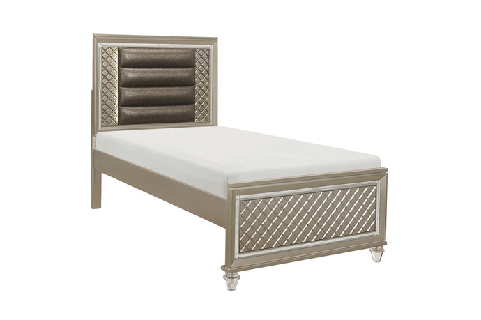 Homelegance Loudon Champagne Wood Finish Twin Bed