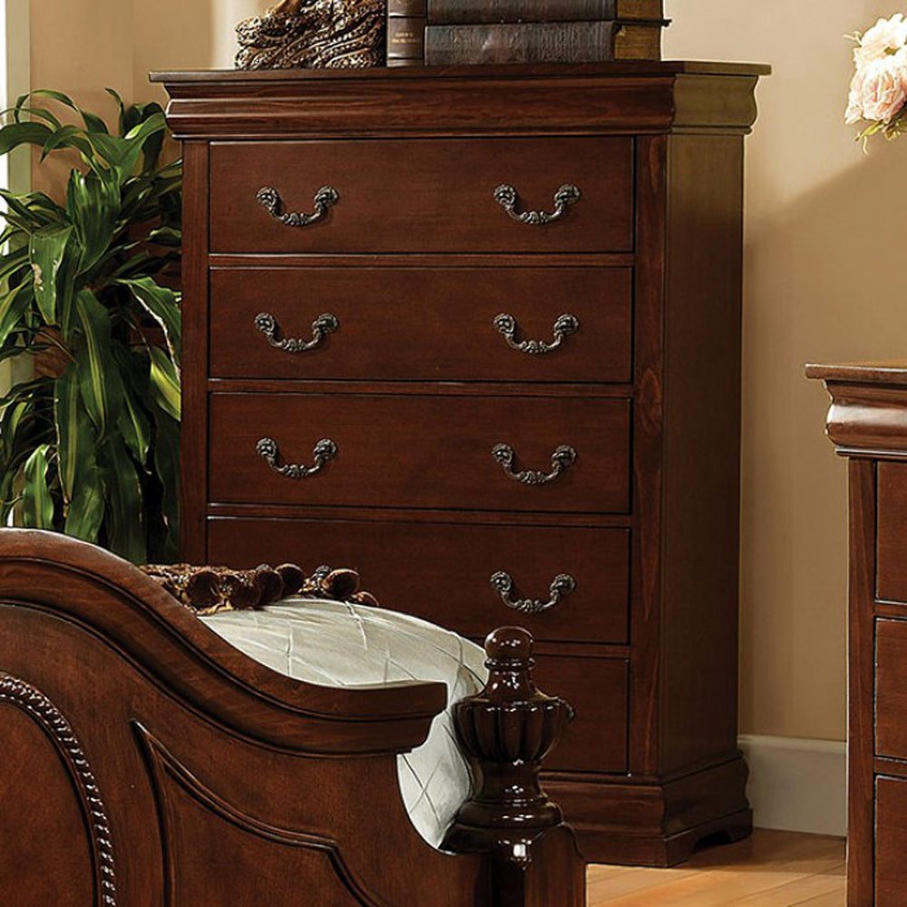 Furniture of America CM7952C Velda II Traditional Brown Cherry Chest