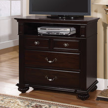 Load image into Gallery viewer, Syracuse CM7129TV Transitional Dark Walnut Finish Media Chest