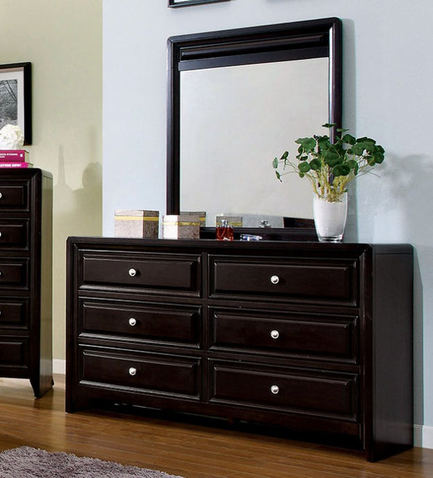 Furniture of America CM7058D Yorkville Espresso Dresser and Mirror Set