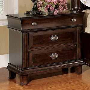 Furniture of America CM7065N Arden Brown Cherry Finish Nightstand