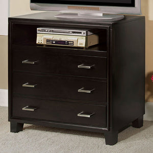 Enrico II CM7088TV Contemporary Espresso Finish Media Chest