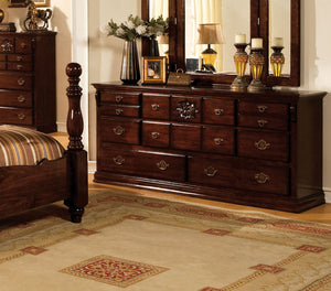 Furniture of America CM7571D Tuscan II Glossy Dark Pine Dresser