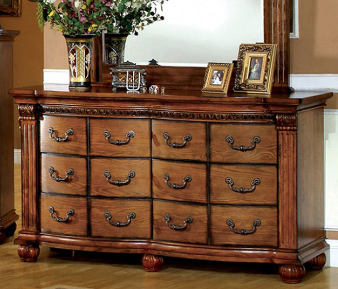 Furniture of America CM7738D Bellagrand Antique Oak Dresser