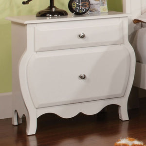 Furniture Of America CM7940N Roxana White Wood Finish Nightstand