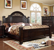 Load image into Gallery viewer, Syracuse CM7129Q Transitional Dark Walnut Finish Queen Bed