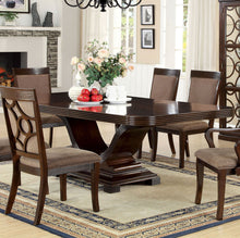 Load image into Gallery viewer, Furniture of America Woodmont Walnut Dining Table With Expandable Leaf