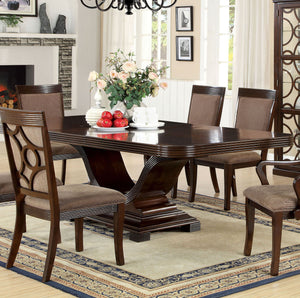 Furniture of America Woodmont Walnut Dining Table With Expandable Leaf