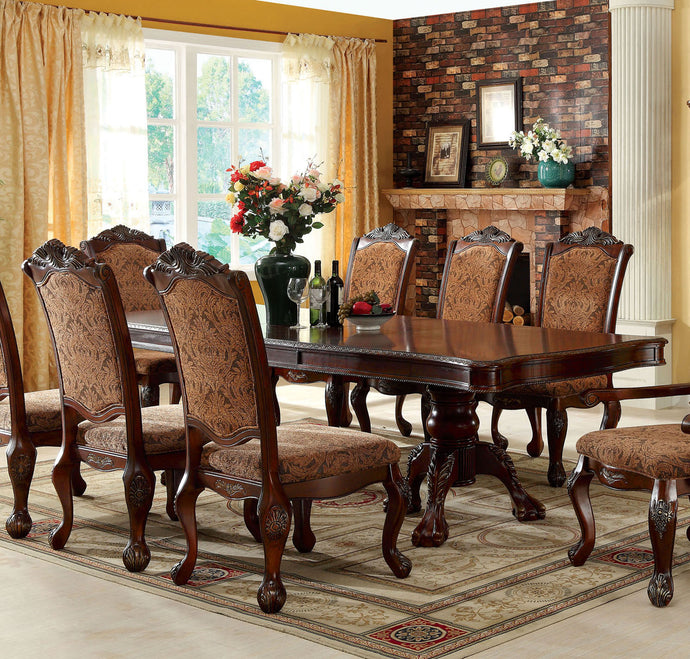 Furniture of America CM3103T Cromwell Antique Cherry Dining Table