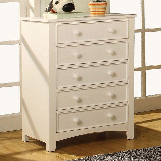 Furniture of America CM7905WH-C Omnus Transitional White Kids Chest