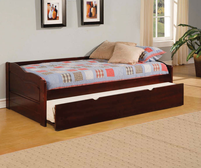 Furniture of America CM1737 Sunset Cherry Daybed with Twin Trundle